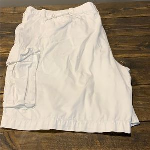 The Foundry White Cargo Shorts
